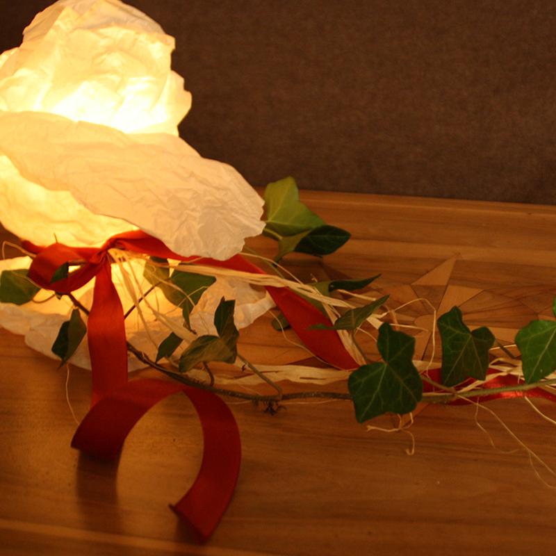 Kerzenlampe Seidenpapier