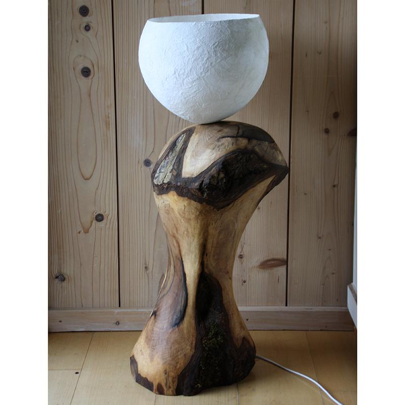 LampeK1 Wundervolle Nussbaum Stehlampe